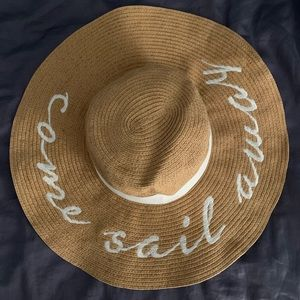 Come Sail Away Beach Hat